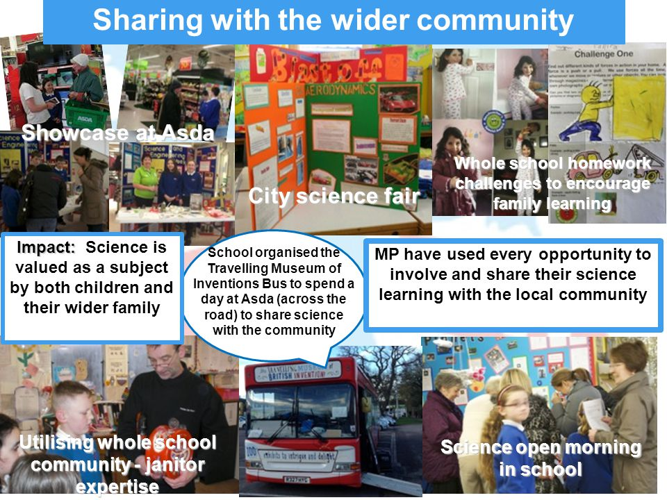 Sharing with the wider community