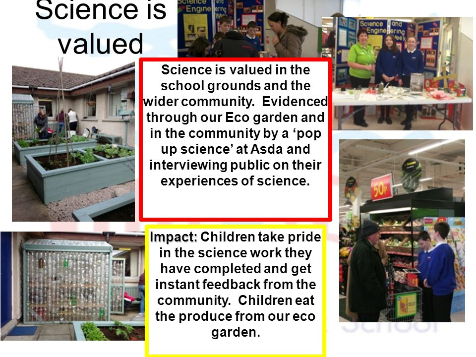 Science is valued
