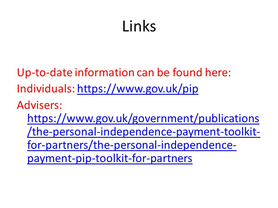Links Up-to-date information can be found here: