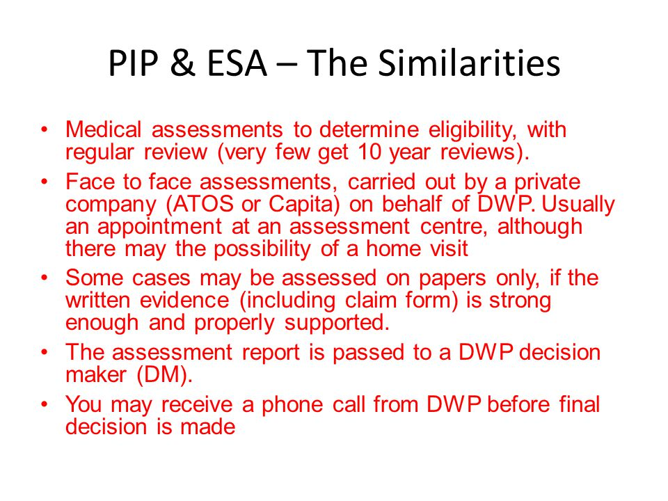 PIP & ESA – The Similarities