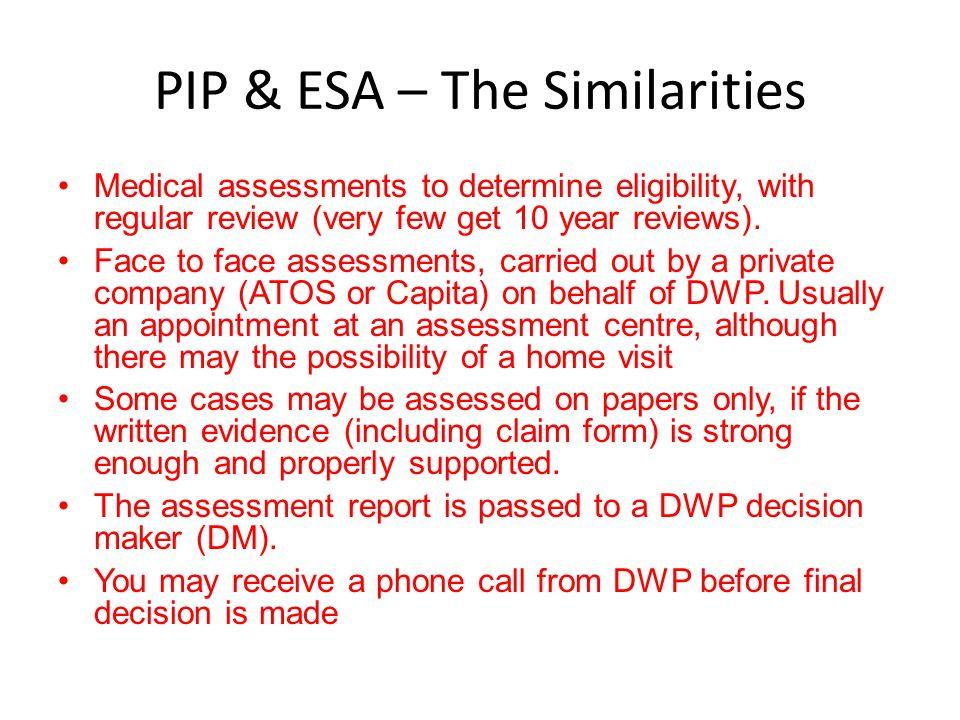 PIP & ESA – The Similarities