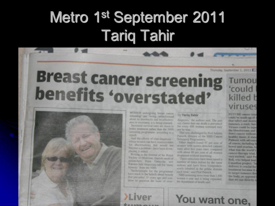 Metro 1st September 2011 Tariq Tahir