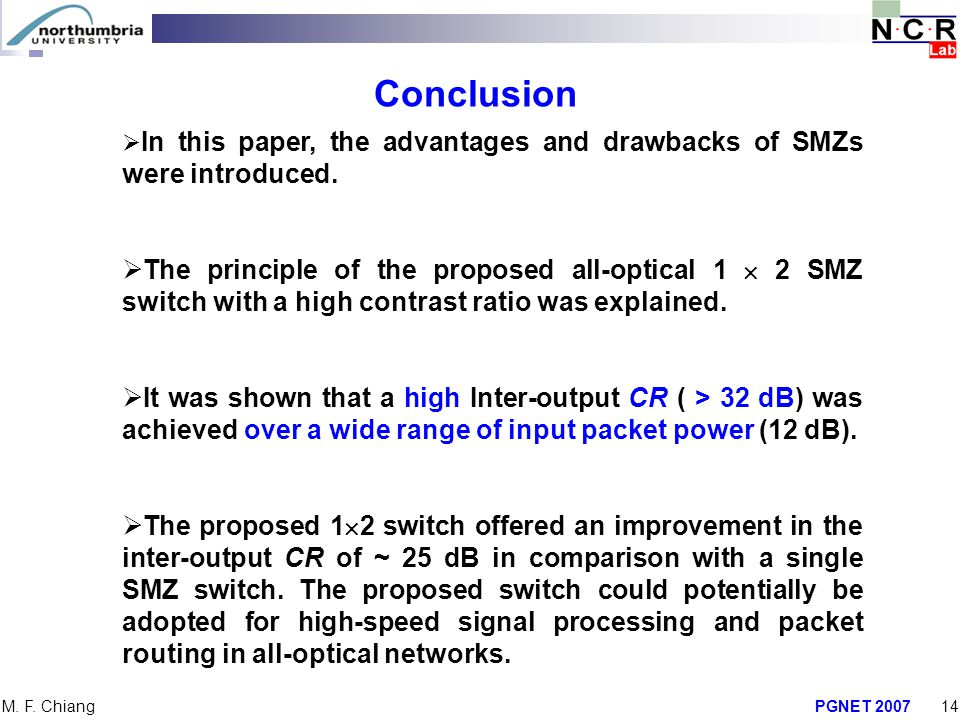 Conclusion In this paper, the advantages and drawbacks of SMZs were introduced.