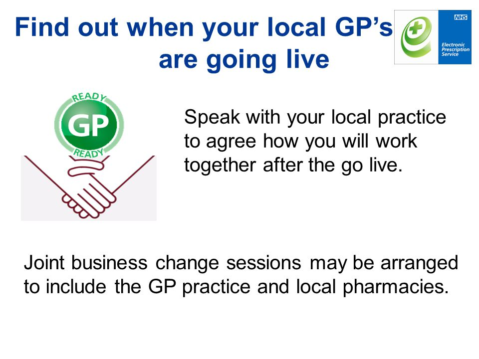 Find out when your local GP's are going live