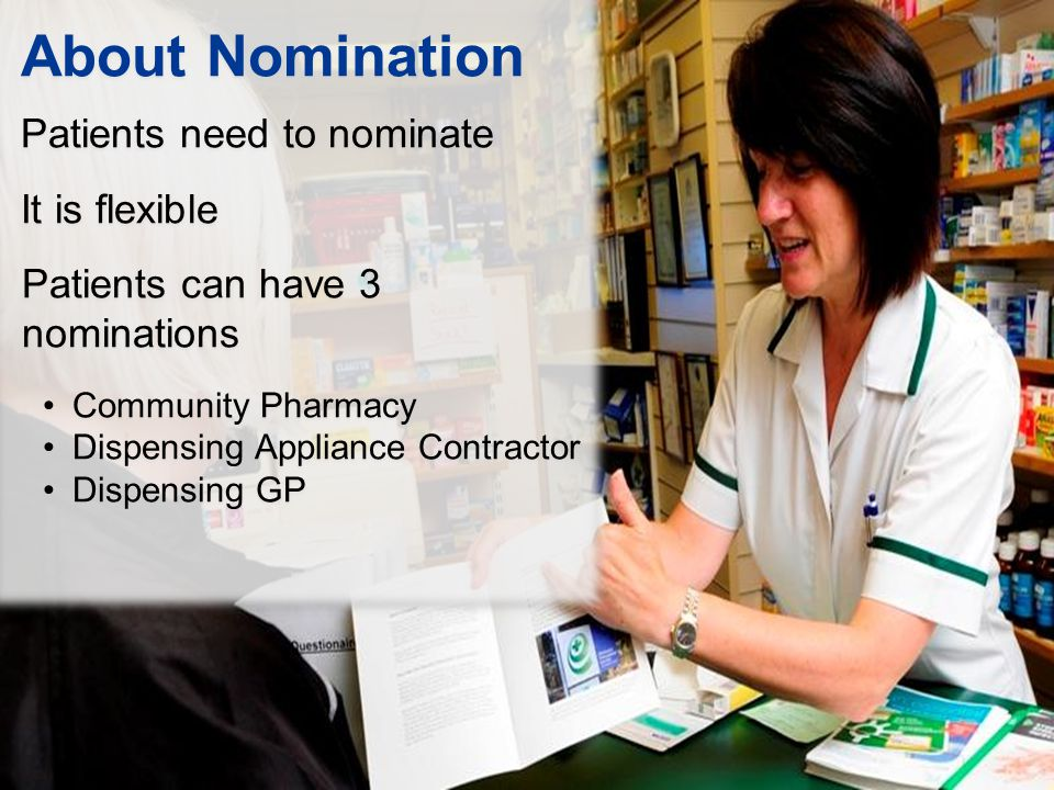 About Nomination Patients need to nominate It is flexible