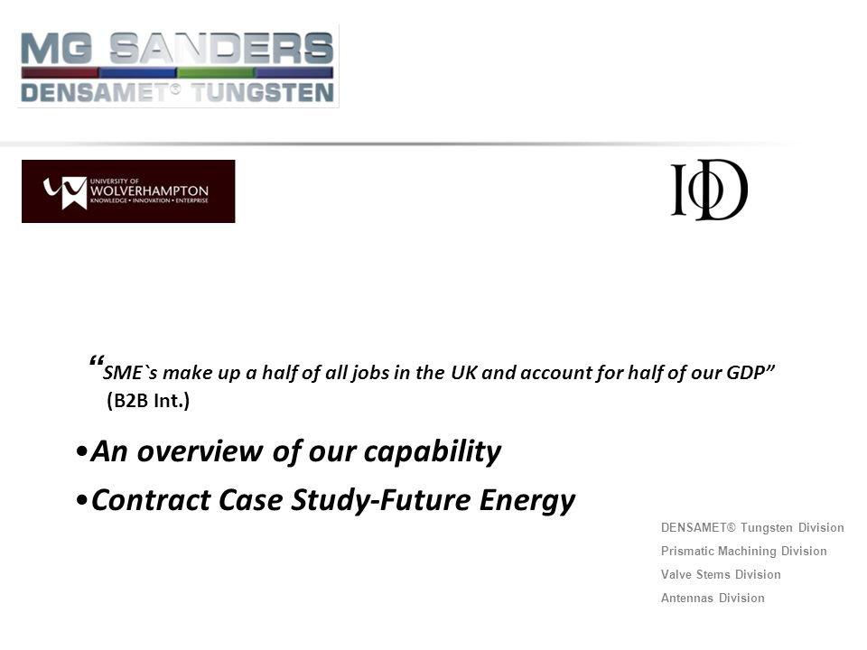 An overview of our capability Contract Case Study-Future Energy