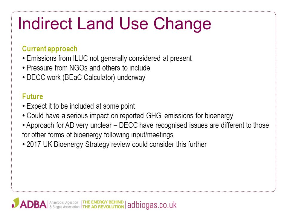 Indirect Land Use Change