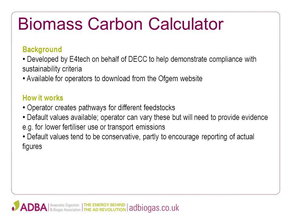 Biomass Carbon Calculator