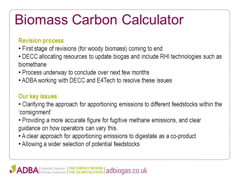 Biomass Carbon Calculator