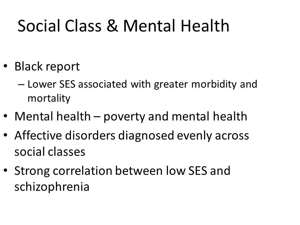 Social Class & Mental Health