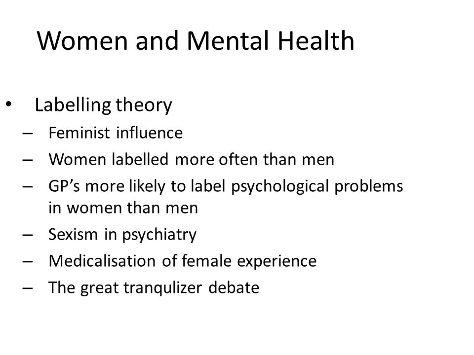Women and Mental Health