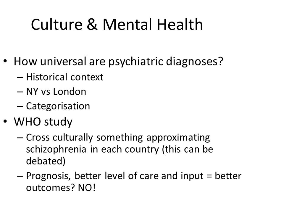 mental health in western culture vs ethnicity pdf