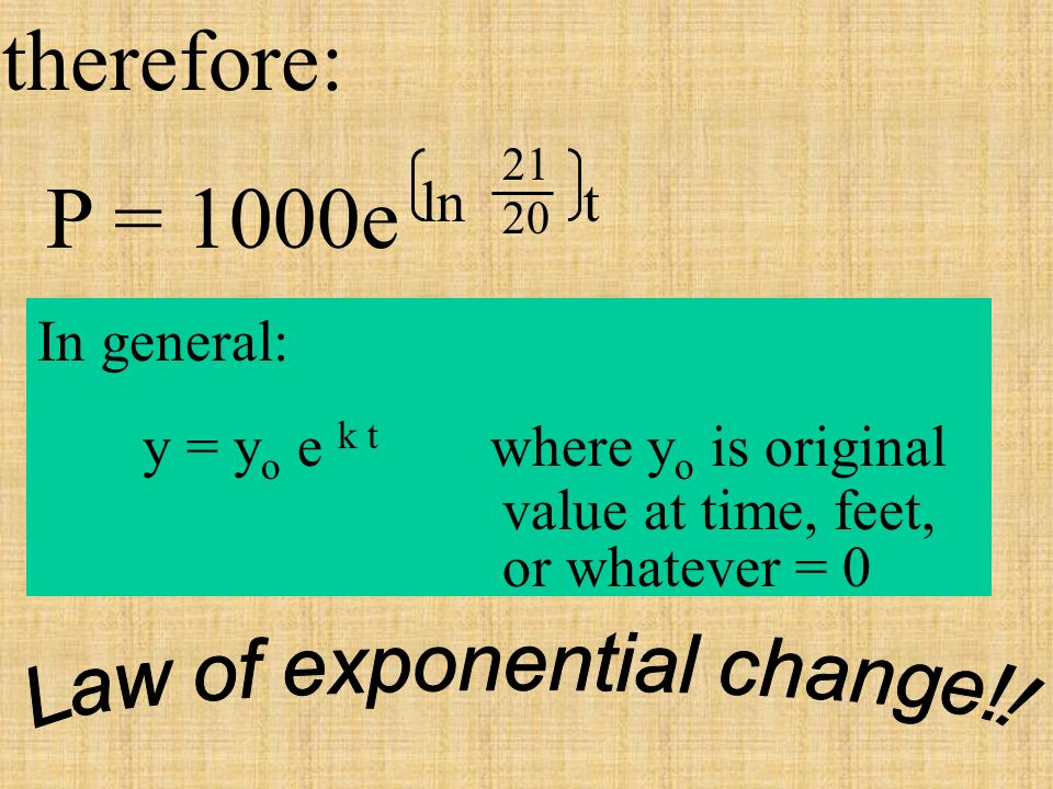 Law of exponential change!!