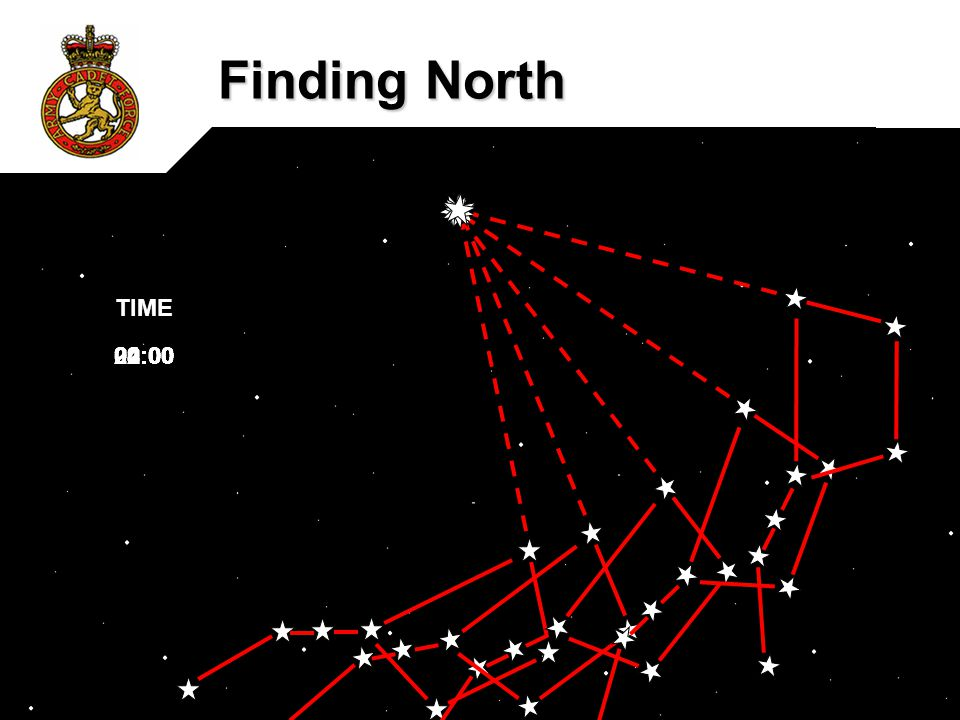 Finding North TIME 04:00 02:00 00:00 22:00 20:00 0305MAC04PP