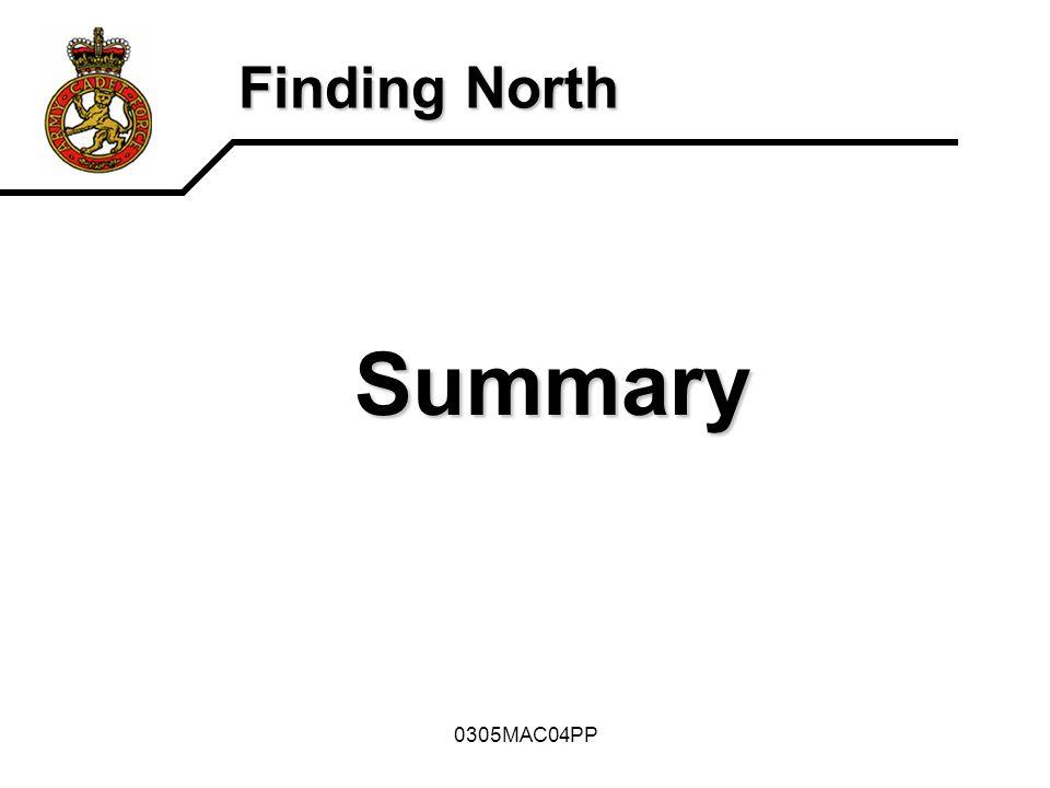 Summary Finding North 0305MAC04PP