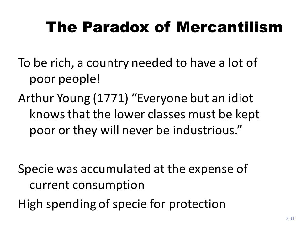 The Paradox of Mercantilism