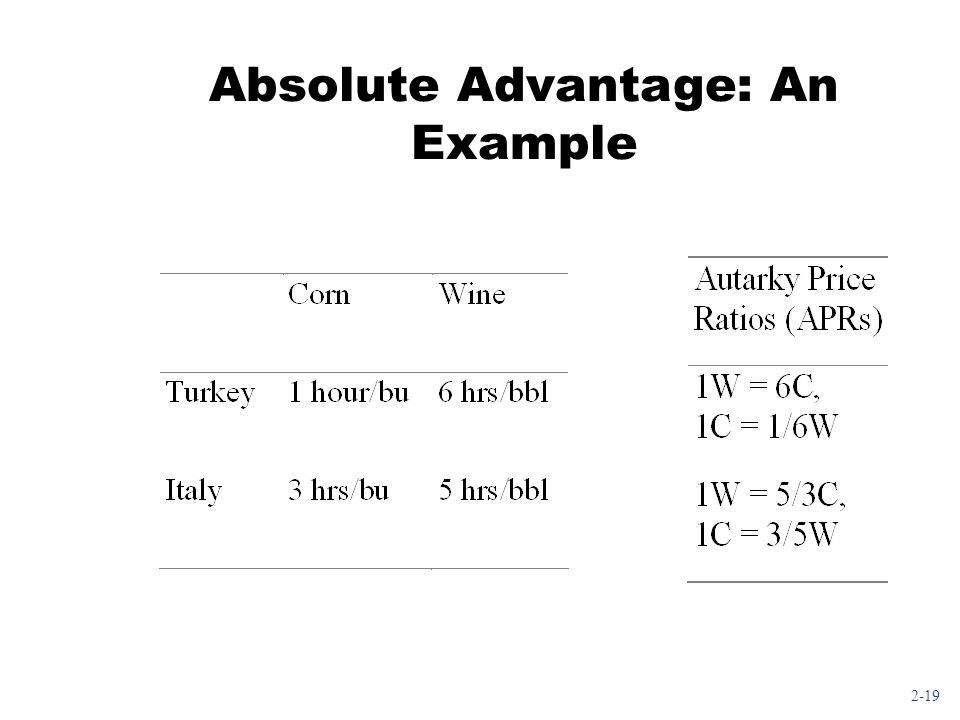 Absolute Advantage: An Example