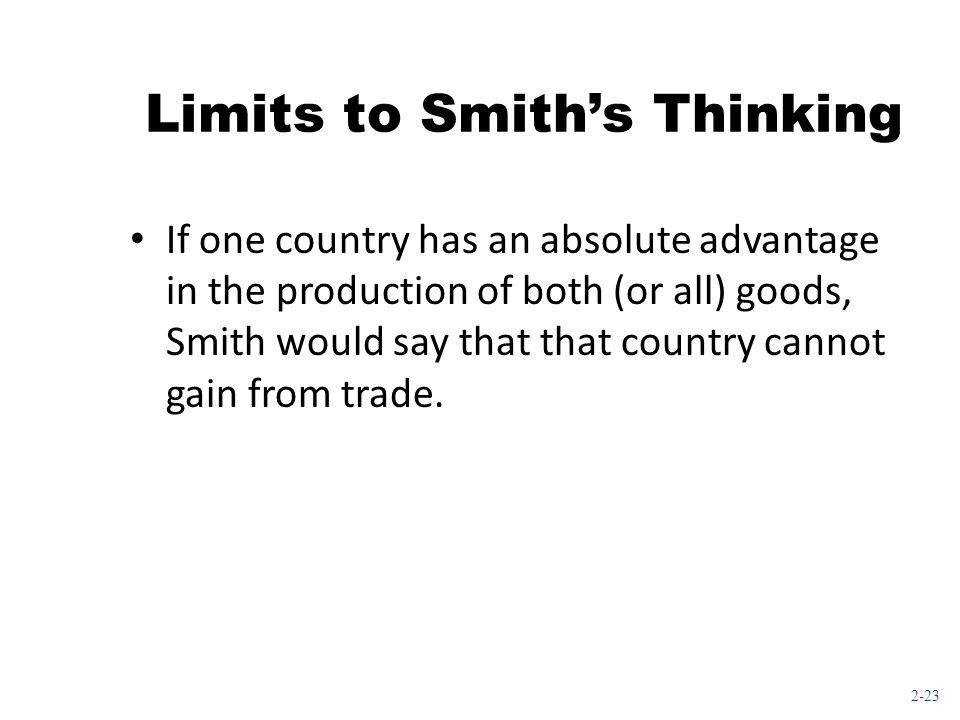 Limits to Smith's Thinking