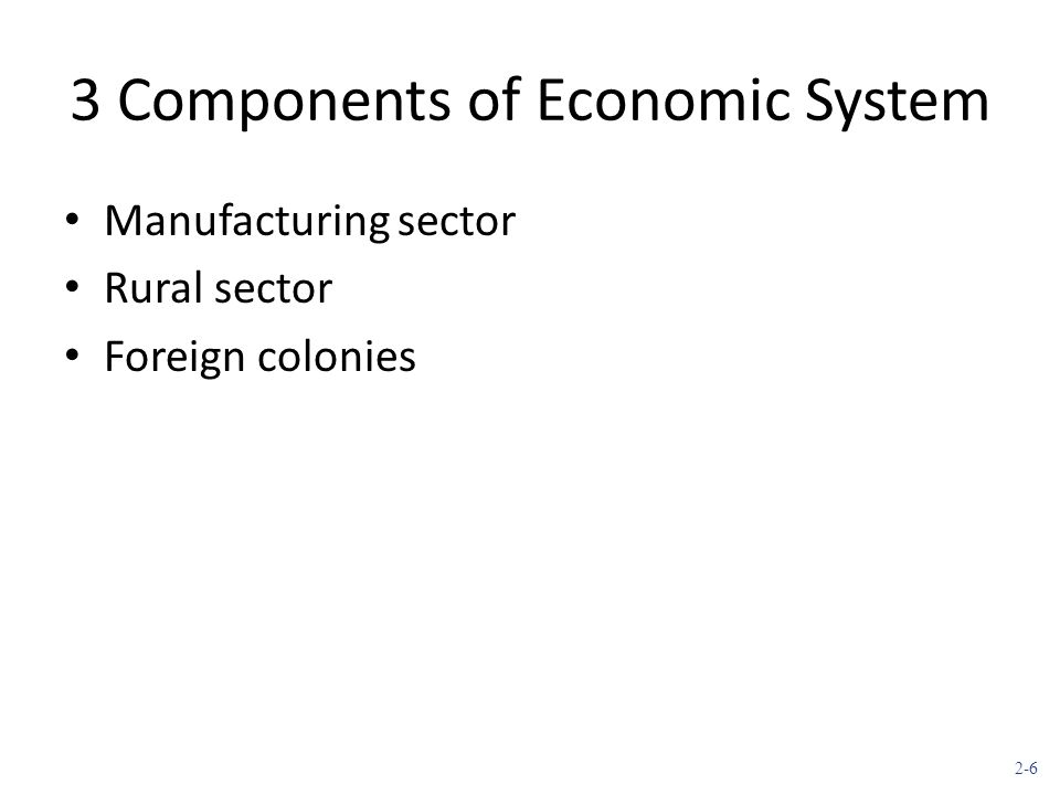 3 Components of Economic System