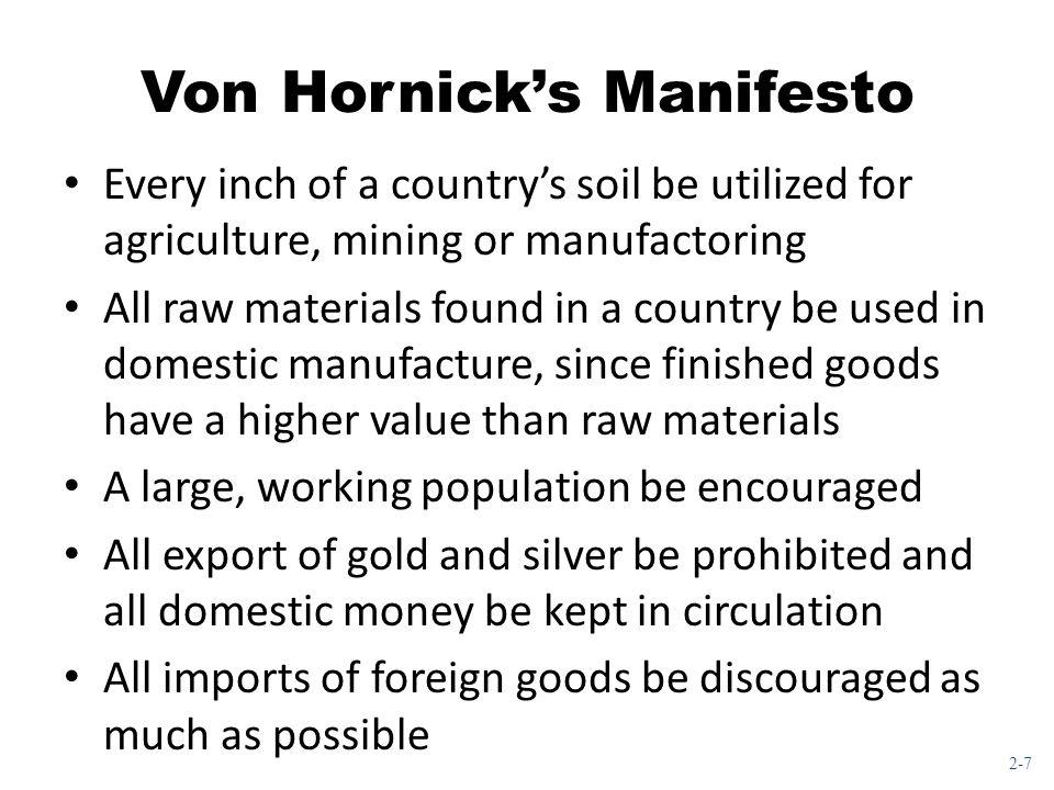 Von Hornick's Manifesto