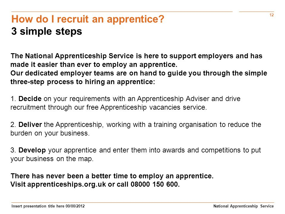 How do I recruit an apprentice 3 simple steps