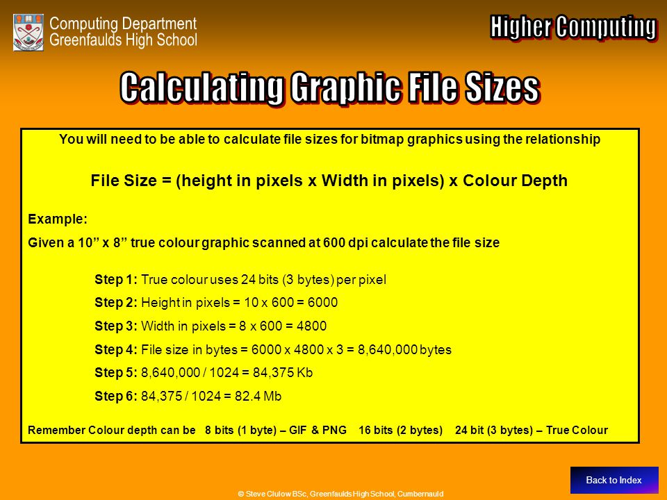 Calculating Graphic File Sizes