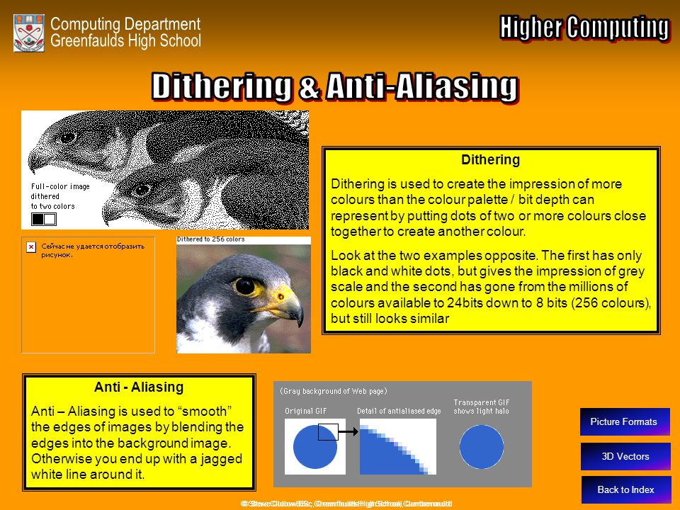 Dithering & Anti-Aliasing