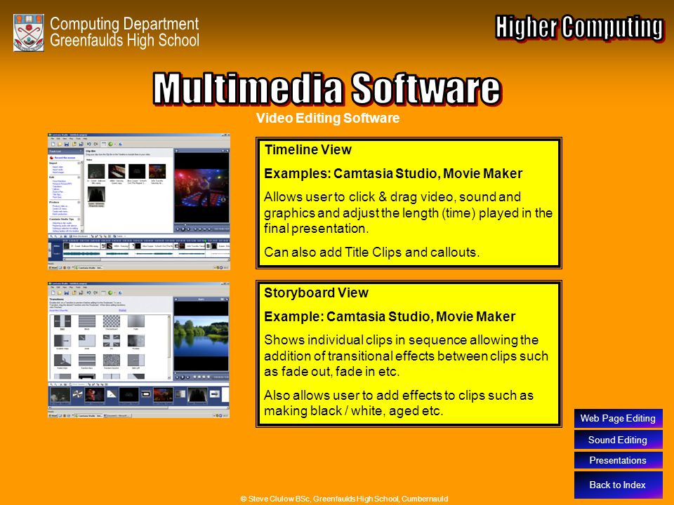 Multimedia Software – Video Editing Software