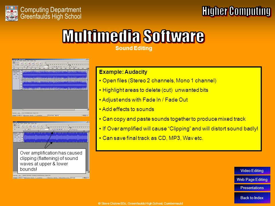 Multimedia Software – Sound Editing Software