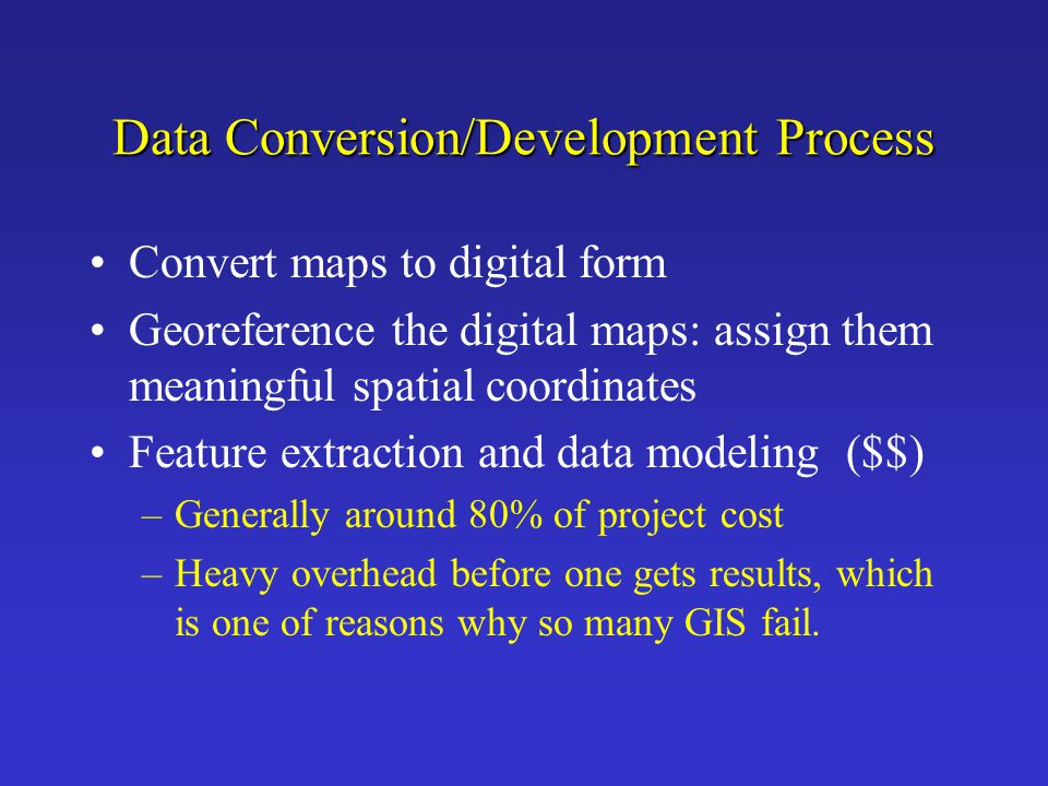 Data Conversion/Development Process