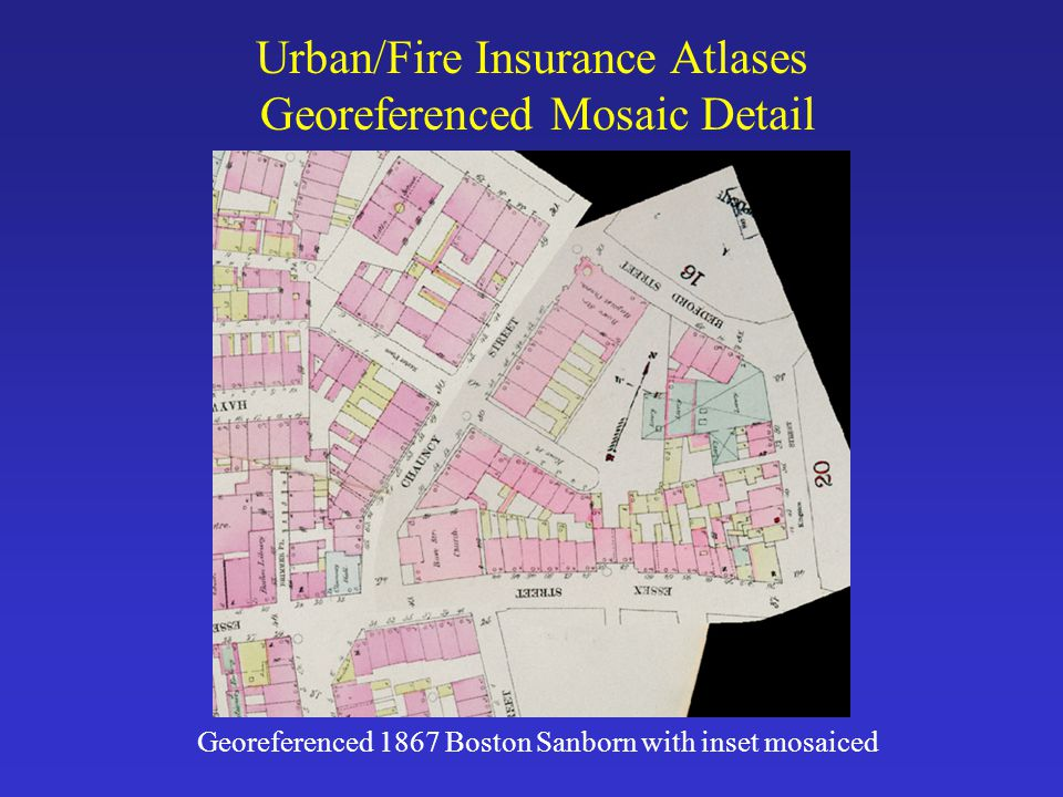 Urban/Fire Insurance Atlases Georeferenced Mosaic Detail