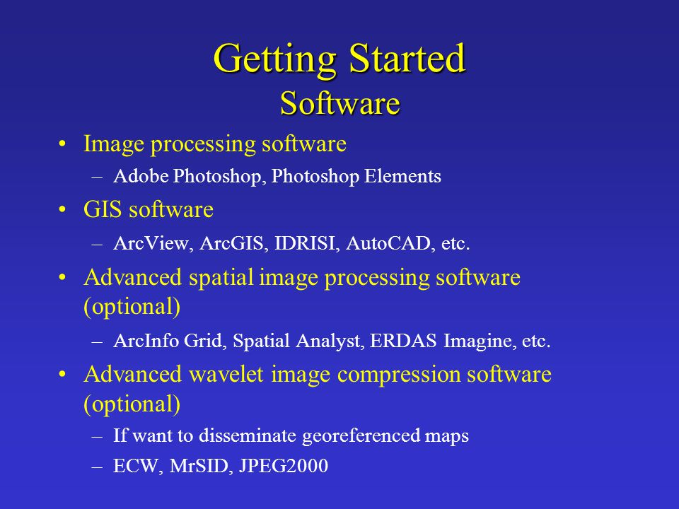 Getting Started Software