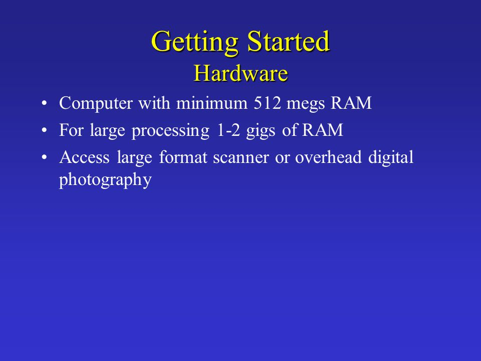 Getting Started Hardware