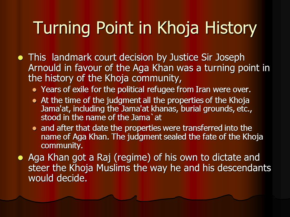Turning Point in Khoja History