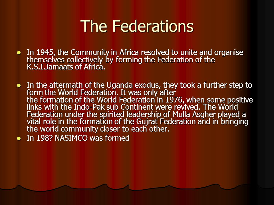 The Federations