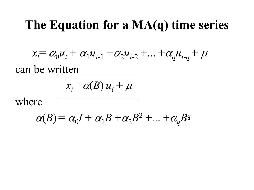 The Equation for a MA(q) time series