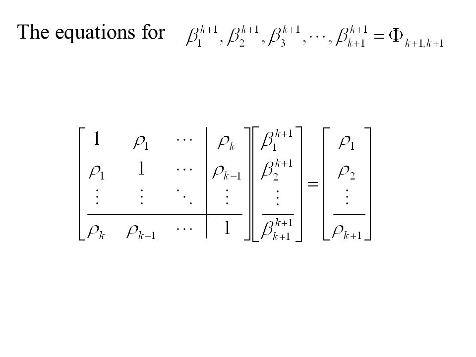 The equations for