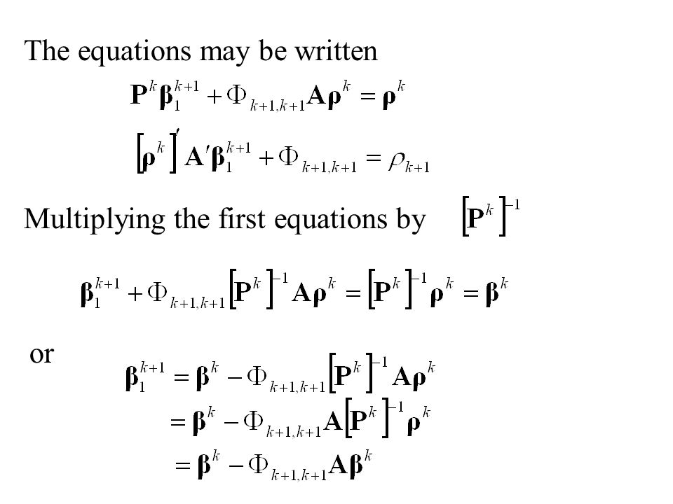 The equations may be written