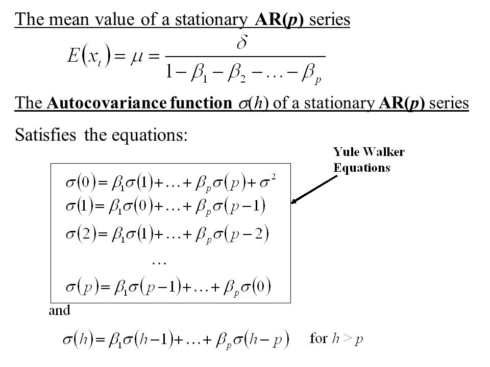 The mean value of a stationary AR(p) series