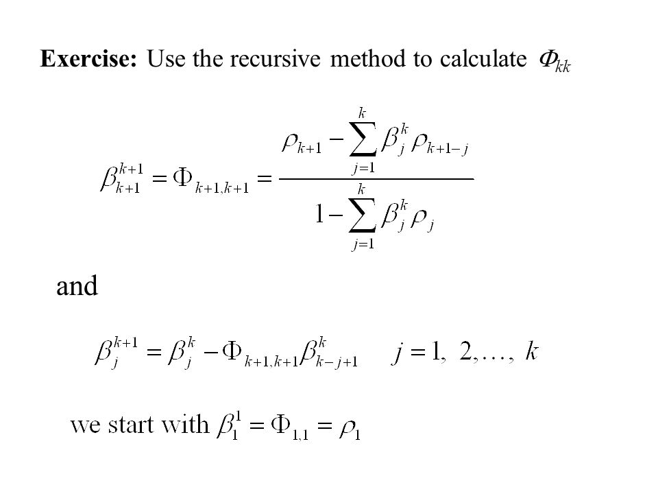 Exercise: Use the recursive method to calculate Fkk