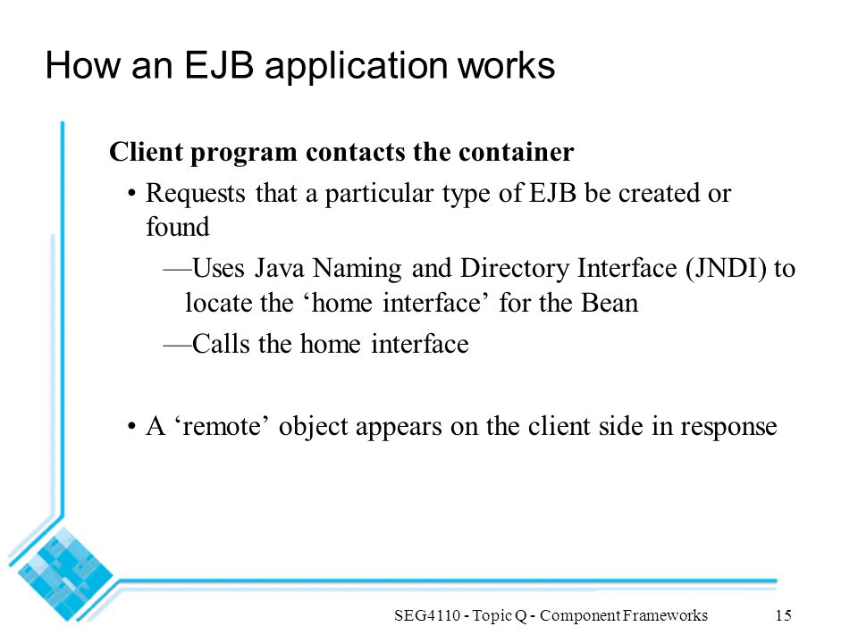 How an EJB application works