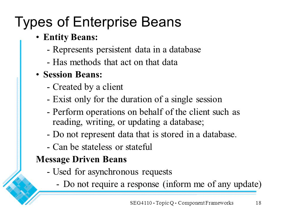 Types of Enterprise Beans