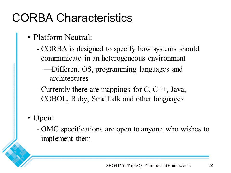 CORBA Characteristics