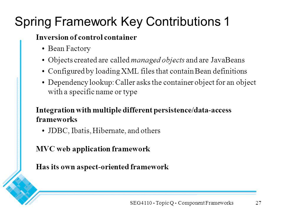 Spring Framework Key Contributions 1