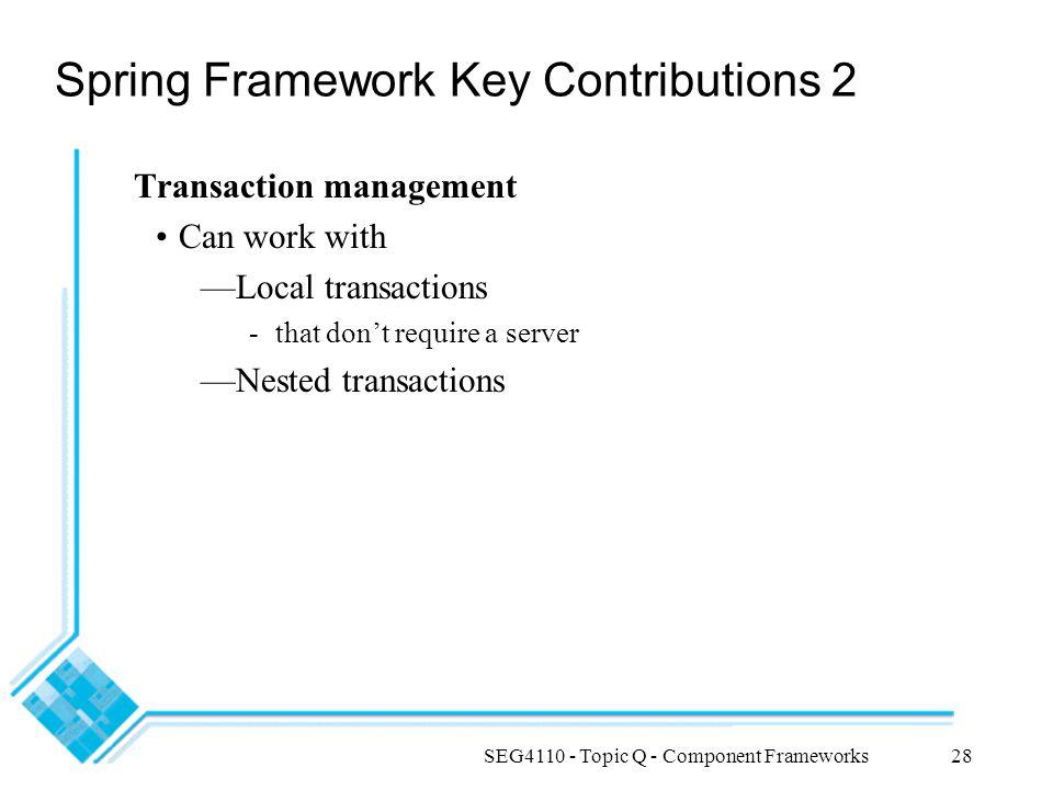 Spring Framework Key Contributions 2