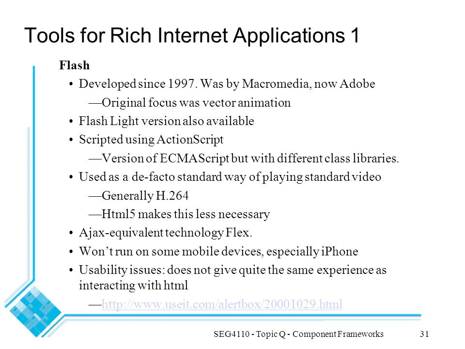 Tools for Rich Internet Applications 1