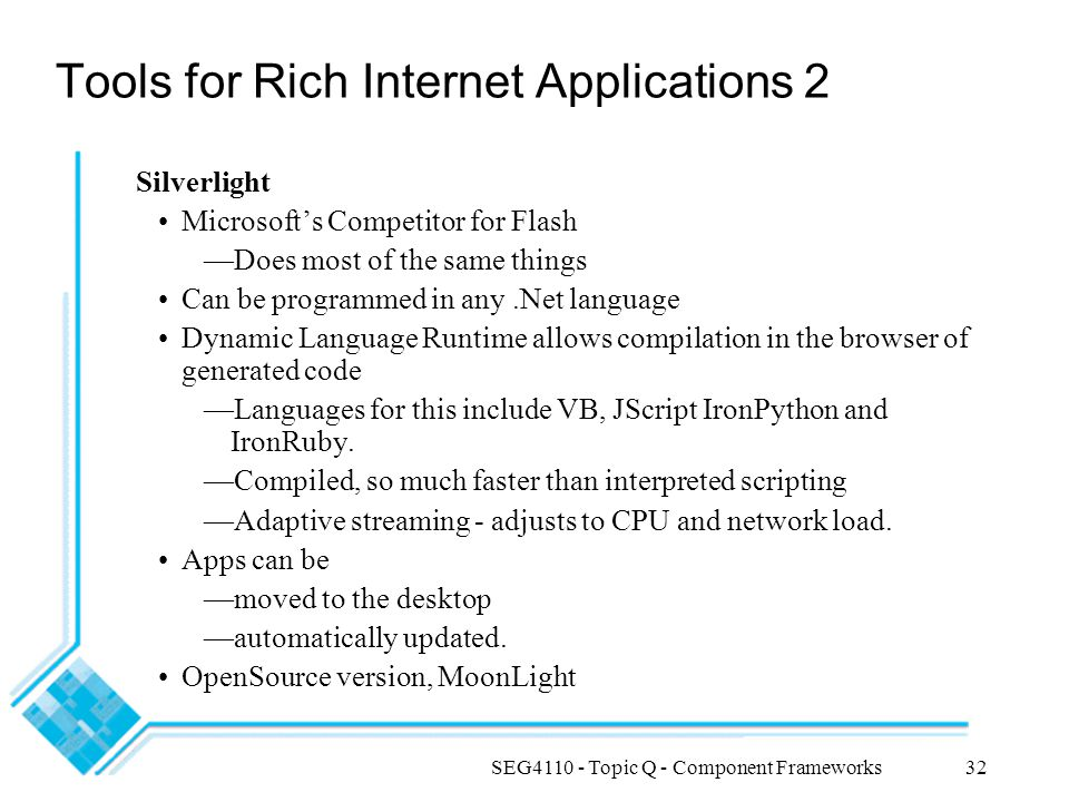 Tools for Rich Internet Applications 2