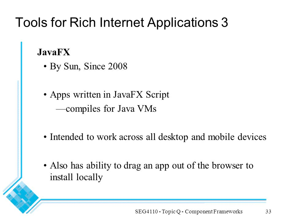 Tools for Rich Internet Applications 3
