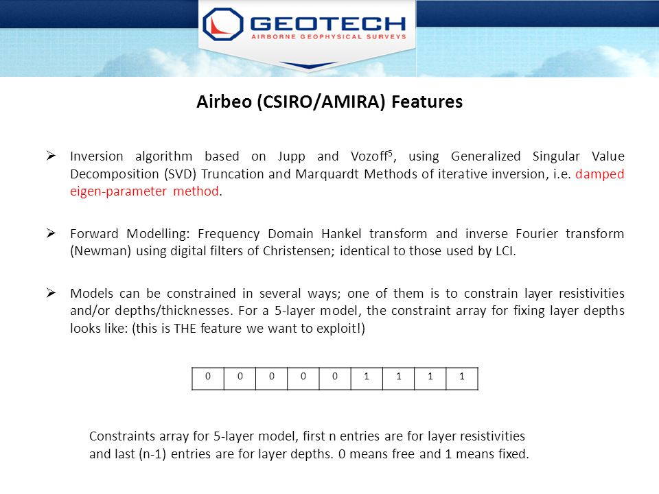 Airbeo (CSIRO/AMIRA) Features