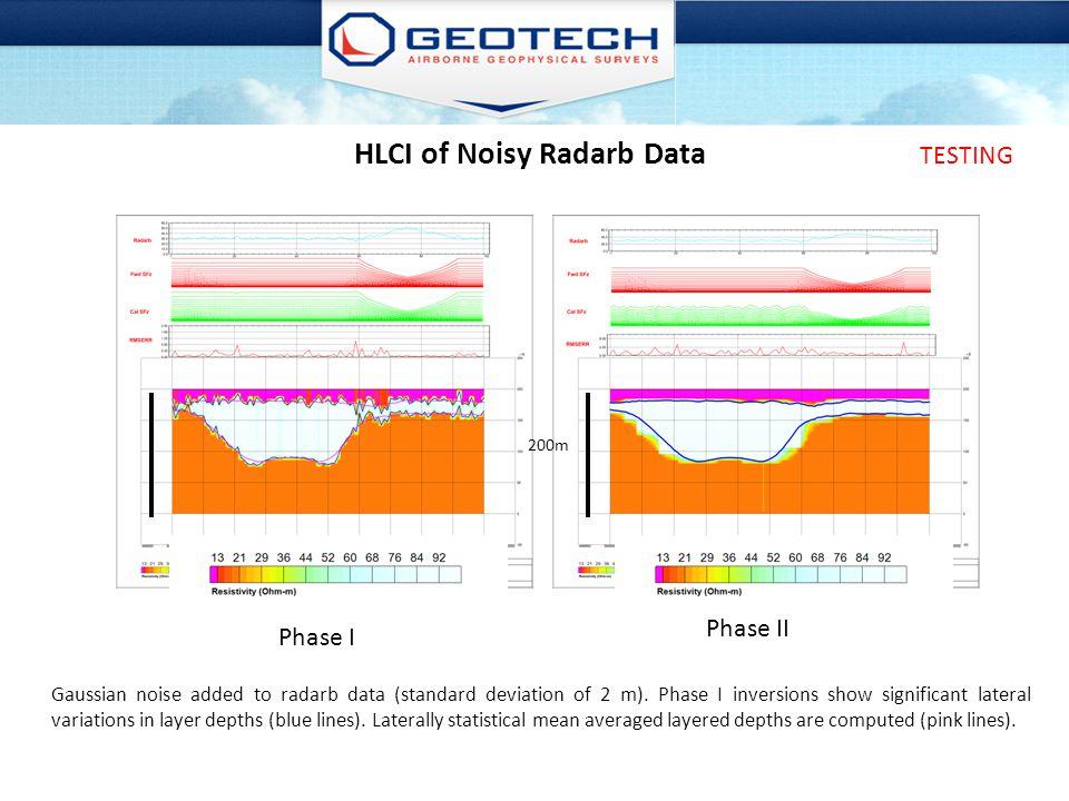 HLCI of Noisy Radarb Data
